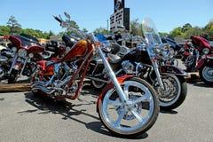 Douane Harley Davidson Motorcycles Stock Foto