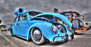 Douane ontworpen VW-Kever met moeraskoeler royalty-vrije stock foto