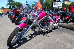 Douane Roze Harley Davidson Stock Foto