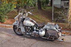 Douanemotorfiets Harley-Davidson FL Electra Glide stock afbeelding