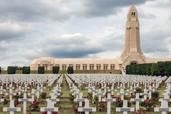 Douaumont ossuary and WW1 cemetery Verdun, France Stock Photography