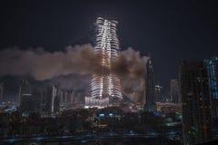 Doubai Burj Khalifa New Year 2016 vuurwerk Royalty-vrije Stock Foto's