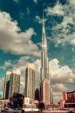 DOUBAI, DE V.A.E - 8 DECEMBER, 2015: Burj Khalifa, het langste gebouw van Doubai in de wereld Royalty-vrije Stock Afbeeldingen