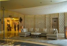 doubai In de zomer van 2016 Modern en helder binnenland in de Grote het Strandtoevlucht van hotelhabtoor Royalty-vrije Stock Foto