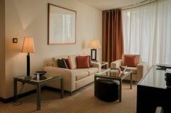 doubai In de zomer van 2016 Modern en helder binnenland in het hotel Royalty-vrije Stock Foto