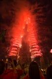 Doubai die het ontvangen van Expo 2020 vieren Royalty-vrije Stock Fotografie