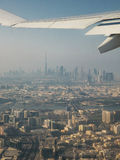 Doubai door de lucht Royalty-vrije Stock Foto's