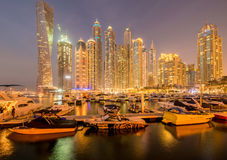Doubai - JANUARI 10, 2015: Jachthavendistrict  Royalty-vrije Stock Fotografie
