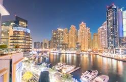Doubai - MAART 26, 2016: Jachthavendistrict op 26 Maart in de V.A.E, Doubai Het jachthavendistrict is populaire woonwijk in Douba Royalty-vrije Stock Afbeelding