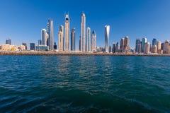 Doubai Marina Skyline royalty-vrije stock afbeeldingen