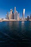 Doubai Marina Skyline stock afbeelding
