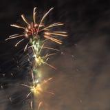 Doubai, Verenigde Arabische Emiraten - 31 December, 2016: Vuurwerk displ Royalty-vrije Stock Foto's