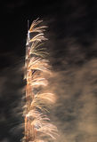 Doubai, Verenigde Arabische Emiraten - 31 December, 2016: Vuurwerk displ Stock Foto