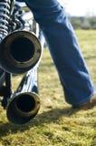 Double échappement de moteur Photographie stock libre de droits