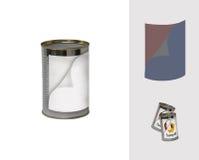 double-étiquetez la boîte en fer blanc Photographie stock libre de droits
