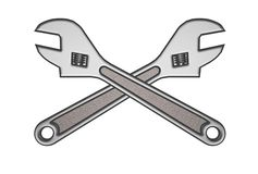 Double 3d Wrench Stock Image