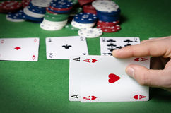 Double ace in poker Stock Image
