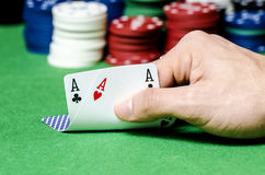 Double ace in poker Royalty Free Stock Images
