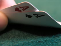 Double ace poker hand Stock Photo