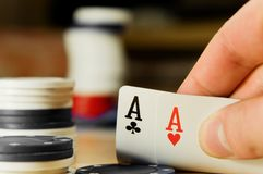 Double Aces Royalty Free Stock Images