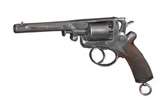 The double-action revolver of the Adams system. Great Britain. 19th century Royalty Free Stock Photos
