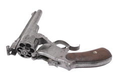 The double-action revolver of the Smith and Wesson system. Stock Photos