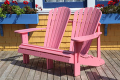 Double Adirondack Chairs royalty free stock photography