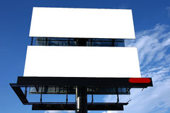 Double advertisement billboard. Under sky Stock Photo