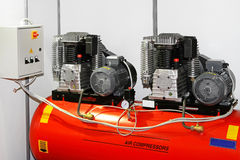 Double air compressor Royalty Free Stock Image