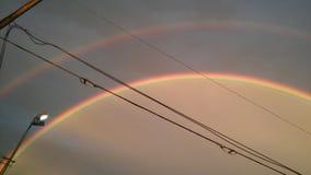 Double arc-en-ciel photo libre de droits