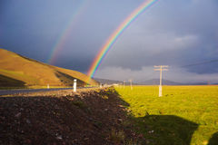 Double arc-en-ciel Photos libres de droits