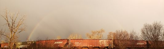 Double arc-en-ciel 2 pour 1 photo libre de droits