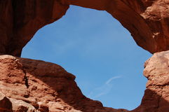 Double arch. At arches national park Royalty Free Stock Image