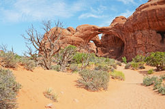 Double Arch - Arches National Park Stock Images