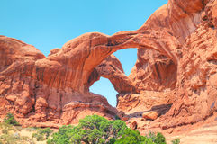 The Double Arch at the Arches National Park Royalty Free Stock Image