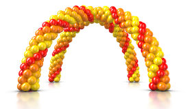 Double Arch Balloons Stock Photography