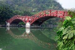 Double arch bridge,Guihu Lake, Guilin Royalty Free Stock Photo