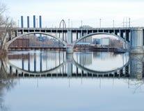 Double arch bridge Minnesota Stock Photos