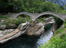 Double arch stone bridge Royalty Free Stock Image
