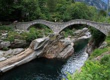 Double arch stone bridge Royalty Free Stock Image