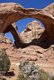 Double Arch, Utah Royalty Free Stock Photos