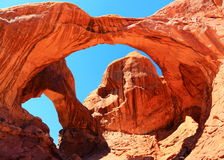 Double Arch in Windows Section, Arches National Park, Utah Stock Photos