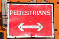 Double arrow pedestrians sign. Royalty Free Stock Photos