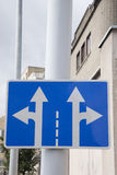 Double Arrow Traffic Sign Stock Photography