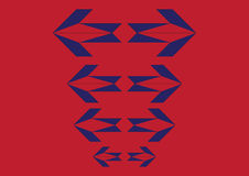Arrow blue red. Double arrows in blue and red color Royalty Free Illustration