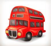 Double autobus rouge de plate-forme illustration de vecteur