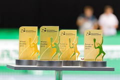Double award ceremony at Zurich Open 2012 Royalty Free Stock Photo