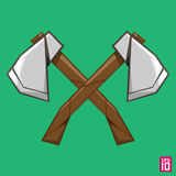 Double axe Stock Photo