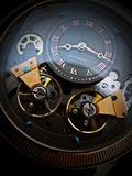 Double Balance Wheel. Wrist watch with double balance wheel in original color Royalty Free Stock Images