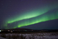 Double band aurora stock photography